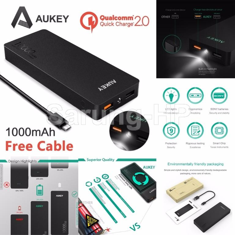 AUKEY PB-T4 Quick Charge 2.0 Power Bank 10000mAh