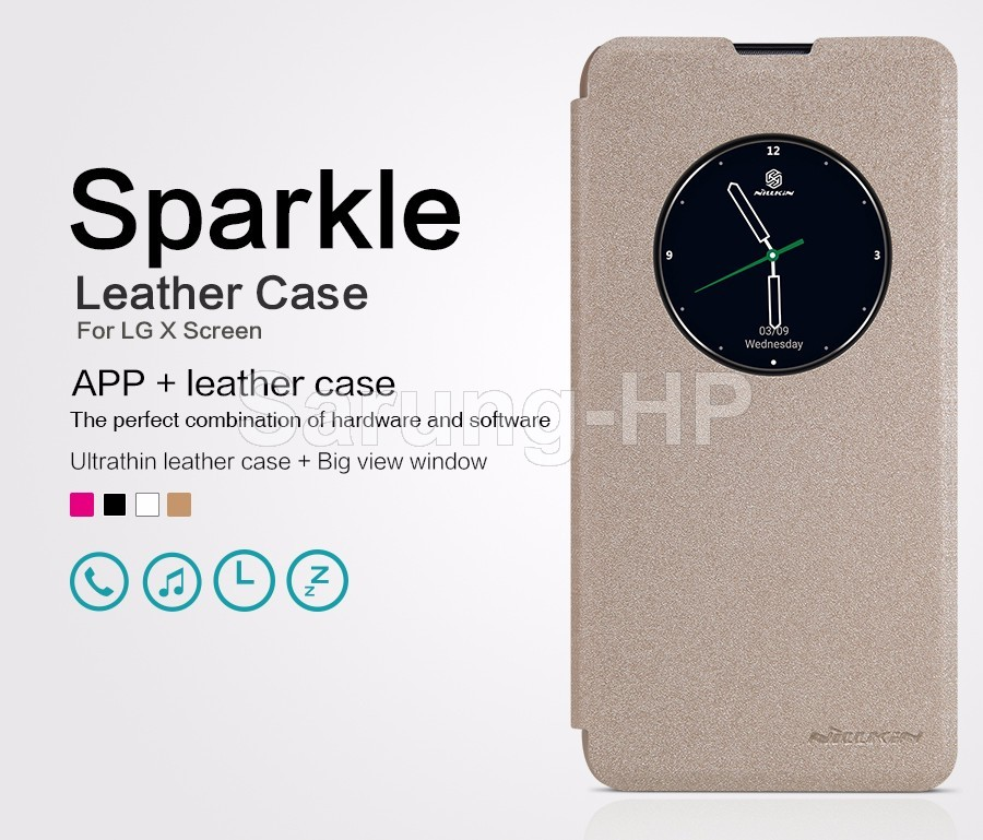 Nillkin Sparkle Leather Case Flip Cover LG X Screen